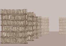 Libreria con gli scaffali per libri illustrazione di stock