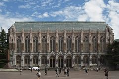 Libreria dell'università di Washington Immagine Stock Libera da Diritti