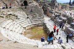 Libreria di Celsus in Ephesus, Turchia Fotografia Stock