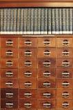 Libreria di mogano fotografia stock