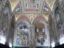Libreria Piccolomini, Siena (Italien) Lizenzfreie Stockbilder