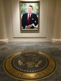 Libreria presidenziale del Ronald Reagan Immagine Stock Libera da Diritti