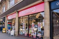 Libreros de Rymans Imágenes de archivo libres de regalías