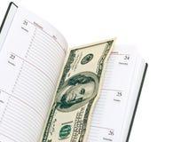 Libreta con el dinero Fotografía de archivo libre de regalías