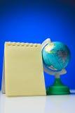 Libreta con el globo Fotos de archivo libres de regalías
