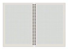 Libreta a cuadros en blanco Imagen de archivo libre de regalías