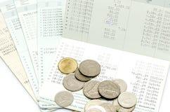 Libreta de banco de cuenta aislada de ahorro Foto de archivo libre de regalías