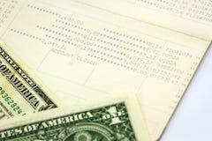 Libreta de banco de cuenta de ahorro, banco del libro Fotos de archivo libres de regalías