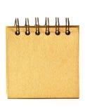 Libreta de papel reciclada Imágenes de archivo libres de regalías