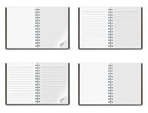 Libreta en el fondo blanco Imágenes de archivo libres de regalías
