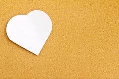 Libreta en tarjeta del corcho Imagen de archivo libre de regalías