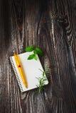 Libreta para las recetas Foto de archivo libre de regalías