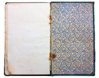 Libreta vieja de la vendimia Imagen de archivo libre de regalías