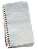 Libreta vieja desaliñada de los reporteros. Fotos de archivo libres de regalías