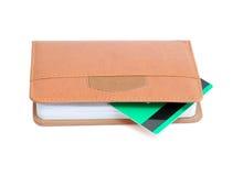 Libreta y de la tarjeta de crédito Foto de archivo libre de regalías