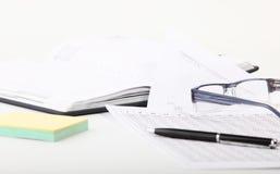 Libreta y documentación de las finanzas Imagenes de archivo
