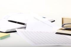 Libreta y documentación de las finanzas Fotos de archivo