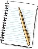 Libreta y Pen Fashion Style Illustration Fotografía de archivo