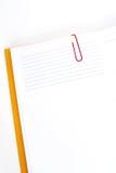Libreta y tarjeta de índice Imágenes de archivo libres de regalías