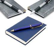 Libretas y bolígrafos imágenes de archivo libres de regalías