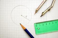 Libretto di matematica Fotografie Stock Libere da Diritti