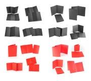 Libretto piegante in bianco della pagina su fondo bianco Fotografie Stock