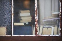 Libri alla finestra Fotografia Stock