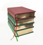 Libri antichi con il taglio dell'oro fotografie stock libere da diritti