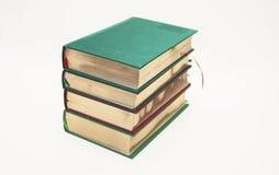 Libri antichi con il taglio dell'oro immagine stock
