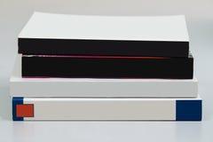 Libri in bianco della pila fotografia stock