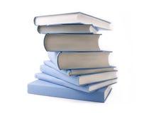 Libri blu Fotografia Stock Libera da Diritti