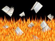 Libri Burning Immagine Stock Libera da Diritti