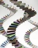 Libri colorati a forma di della scala a chiocciola multi illustrazione 3D Immagini Stock