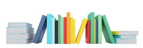 Libri colorati sopra bianco Fotografia Stock Libera da Diritti