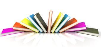 Libri colorati su bianco Fotografia Stock Libera da Diritti