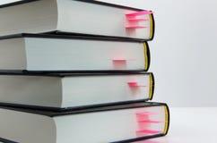 Libri con i segnalibri Fotografia Stock Libera da Diritti