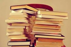 Libri, con un retro effetto Immagini Stock Libere da Diritti