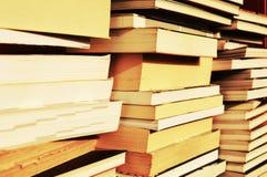 Libri, concetto di istruzione, fondo d'annata Immagini Stock