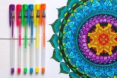 Libri da colorare adulti, concetto di consapevolezza illustrazione vettoriale