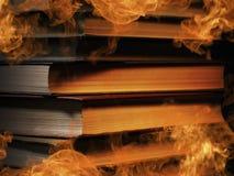 Libri dalla copertina rigida con fumo di turbine Fotografia Stock