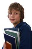 Libri della holding del ragazzo Fotografie Stock Libere da Diritti