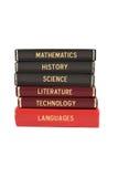 Libri della materia d'insegnamento Fotografie Stock Libere da Diritti