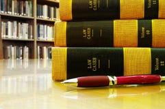Libri di caso di legge Immagine Stock