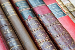 Libri di cuoio dell'annata Immagine Stock Libera da Diritti