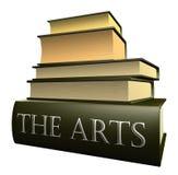 Libri di formazione - le arti Immagine Stock