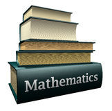 Libri di formazione - matematica Immagine Stock Libera da Diritti