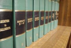 Libri di legge su fallimento Fotografia Stock