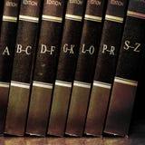 Libri di legge sulla mensola Immagini Stock