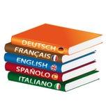 Libri di linguaggio Immagine Stock
