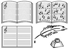 Libri di musica Fotografie Stock Libere da Diritti